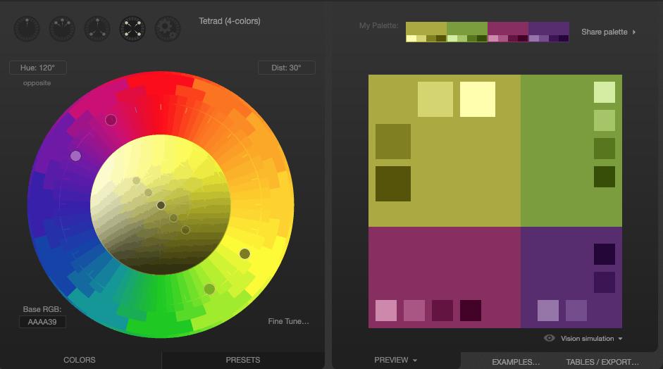 כלי הגדרת פלטות צבעים